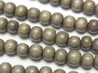 天然石卸 問屋 販売|ケンケンジェムズ ドットコム 1連180円!グレーウッド セミラウンド5mm 1連(約38cm)