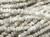 天然石卸 ホワイトダイヤモンド チップ 半連/1連(約38cm)