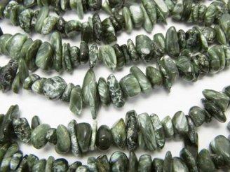 天然石卸 1連780円!セラフィナイトAA++ チップ(ミニタンブル) 1連(約84cm)