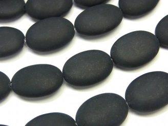 天然石卸 フロストオニキス オーバル18×13×6 半連/1連(約36cm)