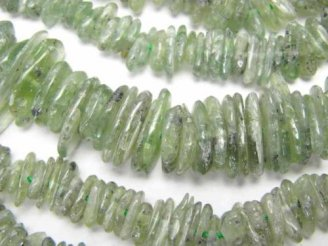 天然石卸 1連1,180円〜!稀少!グリーンカイヤナイトAA++ チップ(ミニタンブル) 1連(約38cm)
