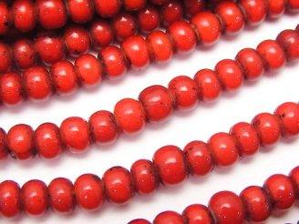 天然石卸 1連680円!インディアン ホワイトハーツビーズ5×5×3 1連(約60cm)