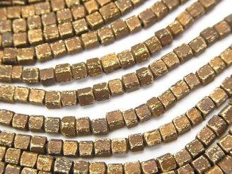 天然石卸 問屋 販売|ケンケンジェムズ ドットコム 1連380円!ブラス(真鍮) キューブ2.5×2.5×2 いぶし仕上げ 1連(約66cm)