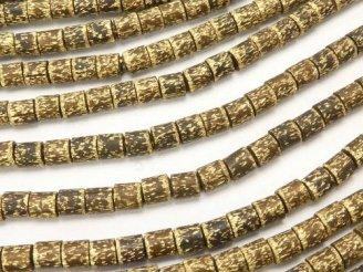 天然石卸 1連380円!ブラス(真鍮) チューブ2.8×2.8×3mm いぶし仕上げ 1連(約60cm)