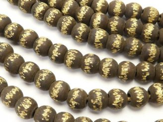 天然石卸 ブラス(真鍮) ロンデル5×5×4.5 いぶし仕上げ 半連/1連(約58cm)