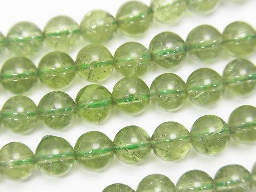 高品質グリーンアパタイトAA++ ラウンド6mm 1/4連〜1連(約38cm)