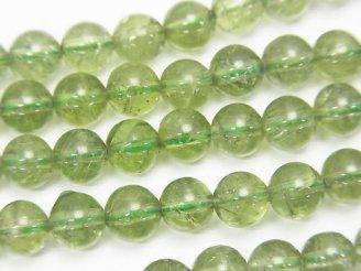 天然石卸 高品質グリーンアパタイトAAA-〜AA++ ラウンド6mm 1/4連〜1連(約38cm)