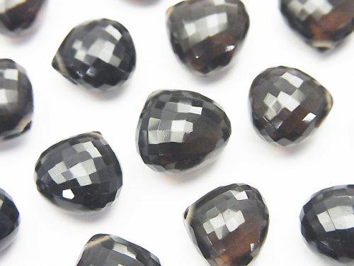 【粒売り】【極上カット】宝石質スモーキークォーツAAA マロン ブリオレットカット 3粒