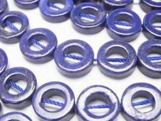 天然石卸 ラピスラズリAAA- コイン(ドーナツ)12×12×4mm 半連/1連(約38cm)