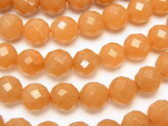 天然石卸 1連780円!オレンジアベンチュリンAAA- 64面ラウンドカット8mm 1連(約38cm)