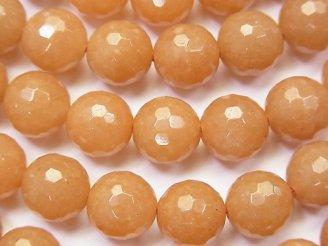 天然石卸 1連980円!オレンジアベンチュリン 128面ラウンドカット10mm 1連(約38cm)
