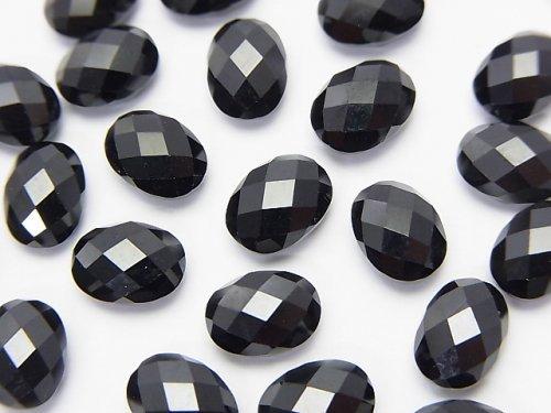 【素晴らしい輝き】宝石質ブラックスピネルAAA 穴なしオーバルカット8×6×4mm 5粒