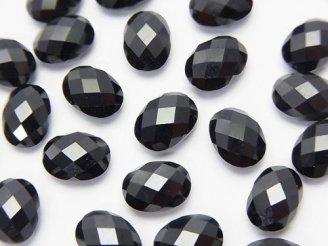 天然石卸 素晴らしい輝き!宝石質ブラックスピネルAAA 穴なしオーバルカット8×6×4 5粒880円!