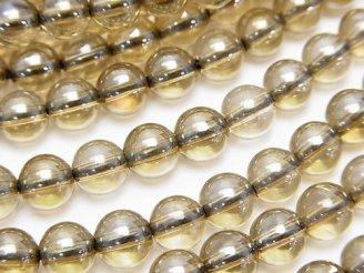 天然石卸 シャンパンオーラ ラウンド6mm 半連/1連(約38cm)