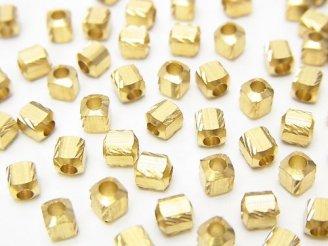 天然石卸 100粒150円!ブラス(真鍮) キューブ3.5×3×3mm 100粒