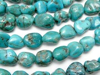 天然石卸 1連1,480円!ブルーターコイズAA++〜AA+ タンブル 1連(約38cm)