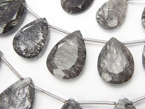 宝石質トルマリンクォーツAAA 大粒ペアシェイプカット 1連(約23cm)