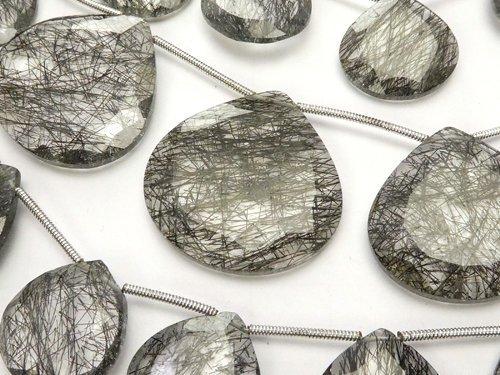 宝石質トルマリンクォーツAAA 大粒マロンカット 1連(約23cm)