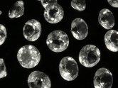 天然石卸 粒売り!宝石質クリスタルAAA 穴なしブリリアントカット6×6×3 10粒580円!