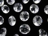 天然石卸 粒売り!宝石質クリスタルAAA 穴なしブリリアントカット8×8×5 5粒580円!
