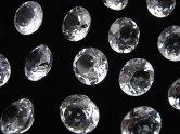 天然石卸 粒売り!宝石質クリスタルAAA 穴なしブリリアントカット10×10×6 5粒980円!