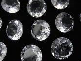 天然石卸 粒売り!宝石質クリスタルAAA 穴なしブリリアントカット12×12×6 5粒1,280円!