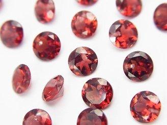天然石卸 宝石質モザンビーク産ガーネットAAA ブリリアントカット6×6×3 1/4連〜1連(約20cm)