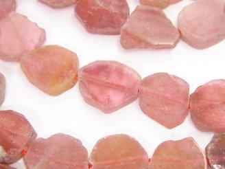 天然石卸 ピンクトルマリンAAA スライスタンブル 1/4連〜1連(約38cm)