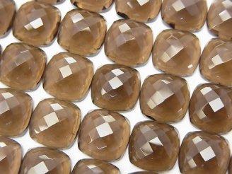天然石卸 宝石質スモーキークォーツAAA スクエア型カボションカット10×10×5 1粒380円!