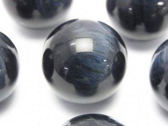 天然石卸 1個1,280円!天然色ブルータイガーアイAAA- ラウンド30mm (穴なし) 1個