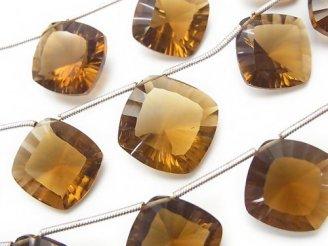 天然石卸 1連2,480円〜!宝石質ビアクォーツAAA ダイヤ コンケーブカット 1連(約18cm)