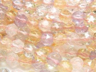 天然石卸 宝石質いろんな天然石AAA スターラウンドカット6mm 半連/1連(約38cm)