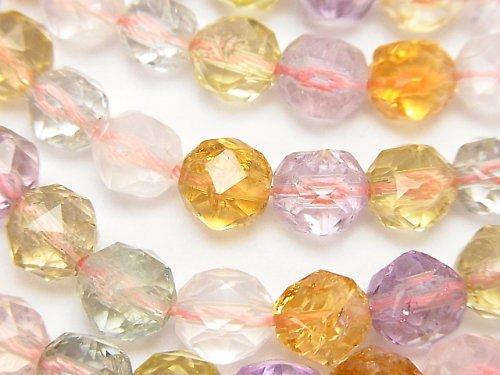 宝石質いろんな天然石AAA スターラウンドカット8mm 1/4連〜1連(約38cm)
