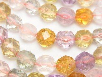 天然石卸 宝石質いろんな天然石AAA スターラウンドカット8mm 1/4連〜1連(約38cm)
