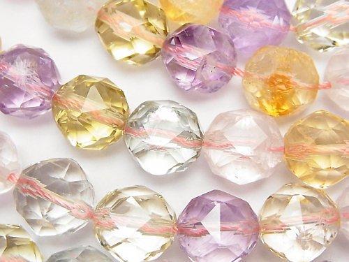 宝石質いろんな天然石AAA- スターラウンドカット12mm 1/4連〜1連(約36cm)