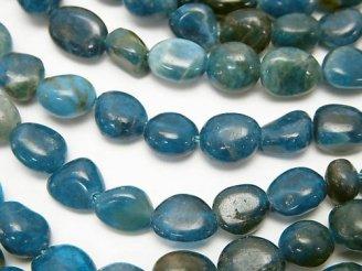 天然石卸 1連680円!ブルーアパタイトAA 小粒タンブル 1連(約38cm)