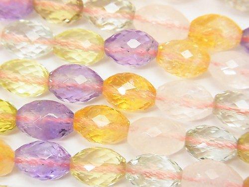 宝石質いろんな天然石AAA ライスカット10×7×7mm 1/4連〜1連(約38cm)