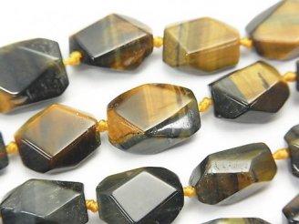 天然石卸 ミックスタイガーアイAA++ タンブルカット 半連/1連(約38cm)