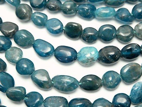 ブルーアパタイトAA 小粒タンブル 1連(約38cm)