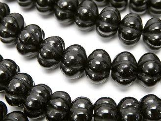 天然石卸 オニキス パンプキンカット10×10×7 半連/1連(約38cm)