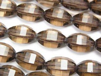 天然石卸 素晴らしい輝き!スモーキークォーツAAA ライスカット13×9×9mm 1/4連〜1連(約38cm)