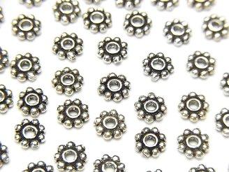 天然石卸 Silver925 ロンデル デイジー5×5×1.3mm いぶし 10個480円!