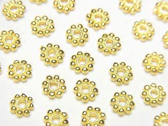 天然石卸 Silver925 ロンデル デイジー5×5×1.2mm 18KGP 10個780円!