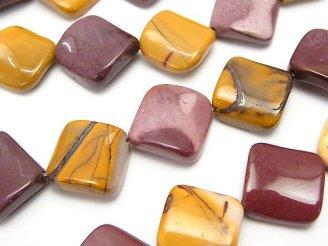 天然石卸 ムーアカイト(モーカイト) ツイストダイヤ20×20×6mm 半連/1連(約36cm)