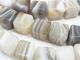 天然石卸 ホワイトサードニクス キューブカット12×12×12 半連/1連(約38cm)