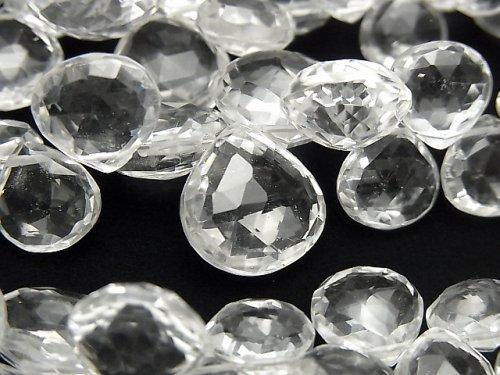 宝石質クリスタルAAA- マロン ブリオレットカット 半連/1連(約18cm)