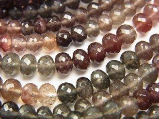 天然石卸 極上カット!宝石質スキャポライト キャッツアイAAA ボタンカット 1/4連〜1連(約38cm)