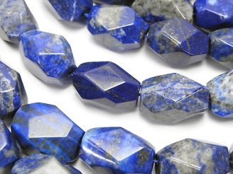 天然石卸 ラピスラズリA+ 大粒タンブルカット 半連/1連(約35cm)