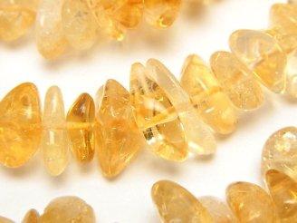 天然石卸 1連1,380円!シトリンAAA- 大粒チップ(ミニタンブル) 1連(約38cm)