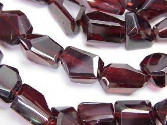 天然石卸 宝石質ガーネットAAA タンブルカット 半連/1連(約38cm)